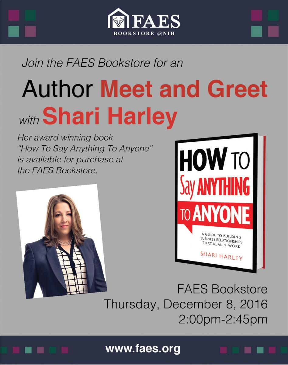 Author Meet Greet With Shari Harley December 8 Faes Bookstore